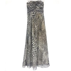 Laundry by Shelli Segal animal print silk dress 2